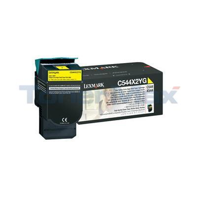 LEXMARK C544 X544 TONER CARTRIDGE YELLOW 4K